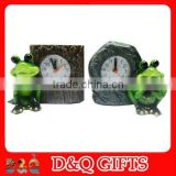 resin desk clock for frog souvenirs