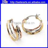 Latest Design New Models Titanium Stainless Steel Jewelry,Diamond 316L Stainless Steel Earrings For Women