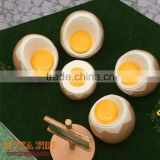 Stylish egg shape chair table for coffee store restaurant furniture set fiberglass stool dining table