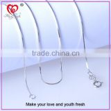 Jewelry necklace factory wholesale silver necklace chain box chain sterling silver necklace chain