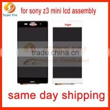 Completed lcd for Sony xperia Z3 mini, for Sony xperia Z3 mini lcd assembly