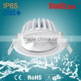 IP65 dimmable COB water proof 9W/15W led downlight with isolated driver 5 years warranty