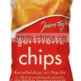 Jeden Tag Snacks Paprika chips ribbed with sun flower oil 175g, without flavour enhancers