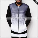 Fade Sublimation Zip And Baseball Style Customized Man/woman Winter Varsity Jacket/bomber Jackets                                                                         Quality Choice