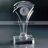 Wholesale customized shape crystal basketball trophy plaque for glass sports awards