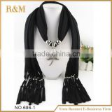 Latest product originality scarf necklaces with beads for 2016