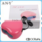 Professional Cheap Mini Heart Shape Home Using Nail Curing Machine Wholesale UV Nail Lamp