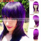 aliexpress wholesale cheap purple silk base Peruvian human hair full lace wig with baby hair