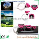 special effects attachable lenses macro,wide-angle and fish-eye shots for iPhone 6 plus 5S Samsung s5 s6 note 4 5 xiaomi
