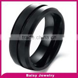 China Alibaba Hot Sale fashion black mens tungsten ring