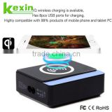 QI Standard Wireless 60W High Power Multi USB Charger with 8USB Tablet Phone Charging Station for Phones in the Restaurant