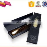 Free sample customized hair extension packaging box/magentic gift packaging box for hair extension