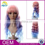 New design fashion red blond brown box braid wig synthetic sew in hair wig