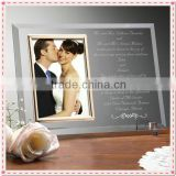 Fancy Invitation Souvenir Glass Engraved Wedding Picture Frame