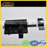 black finished wooden frame window latch for a safe environment
