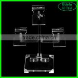 3 Holders Fashion Retail Table Acrylic Display Rack Shopping Mall Shoes Display Stand Acrylic