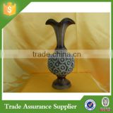 China supplier good quality home decoration antique brass flower vase