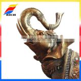 golden polyresin antique elephent