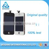 Original 100% factory directly lcd screen for iPhone 4 4s, spare parts touch display for Iphone 4 4s with back cover