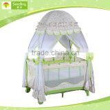 baby folding cots standard size, outdoor travel camp baby cots designs with Mosquito net