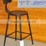 China furniture sale wrought iron chair online, high bar stool with footrest seat back, home goods metal bar stools wholesale