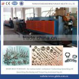 Mesh belt type steel bolts and nuts hardening and tempering furnace