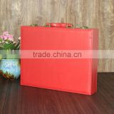 Chinese factories wholesale custom high-grade PU leather gift box, red beautiful display box