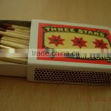 Colored Head Wooden Cardboard Safety Match Box for household