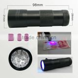 black 12 led uv flashlight torch