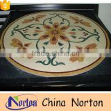 Norton bathroom design black water jet marble medallion for home decor NTMS-MM012L