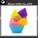 2015 Eco-friendly FDA Approved Software Baking Tool Silicone Cup Cake