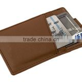 RFID Blocking Genuine Slim Leather Wallet Credit Card Case Sleeve Card Holder With Painted Edges