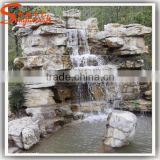 Can be customized artificial waterfall solar fountain garden decorative landscape artificial waterfall fountain
