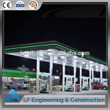 Galvanized and prefab Steel Structure petrol station