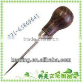 KEARING Hole maker Wood tool handles,Hole maker Wood hand awl,Handicraft Stanley awl,Patchwork Stanley awl# HA6535