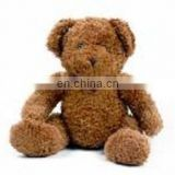 brown stufed teddy bear,soft siting animal toy,kid's gift