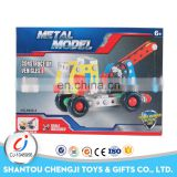 High quality 135pcs buliding block diy metal handmade model car