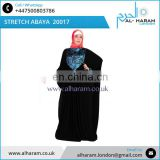 Muslim Long Sleeves Maxi Stretch Abaya Traditional Style Muslim Praying Khaliji Abaya Quality Saudi Abaya Wholesale