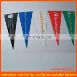 custom felt triangle pennant flags