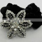 Fashion rhinestone crystal flower hair holder