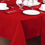 54x54 square  100% polyester tablecloth
