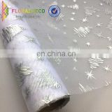 silver foil party decoration organza fabric for table runner chair sash