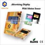 10.1inch A5 size video card LCD displayer with motion sensor