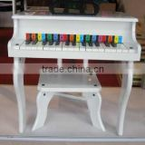 2016 Wholesale Musical Toys White Wooden Piano With 30 Keys New Style Piano For Kids Practice