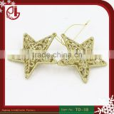 Christmas Ornament Christmas Tree Decorations Gold Plating Five-Pointed Star Pendant Charm Christmas Tree Ornament