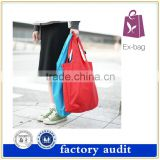 Eco Shopping Promotional Reusable Supermarket Polyester Foldable Tote Bag with waterprooft material