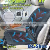 BS-9010 cool wind car seat cushion with heated and massage three in one car seat cover