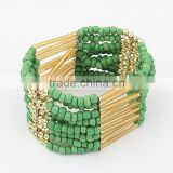 Fashion Trends Gold Costume Jewelry Bohe Seed Beaded Pattern Bracelet