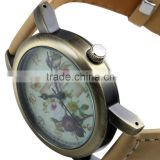 Vogue design ladies leather wood wrist watches women quartz watch LD131