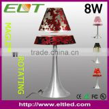 2013 Novelty Magnetic Floating Table Lamp/Metal Or Wooden base And Fabric LED Desk Lighting with CE/ROHS/FCC/UL